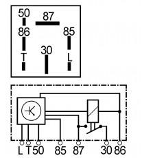 relè preriscaldamento motore lombardini jibs 7 pin