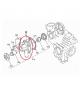 POMPA D'ACQUA bicilindrica Kubota AIXAM prima del 2003 MOTORE KUBOTA Z402 E Z482 (TURBINA 10 MM)