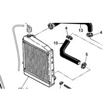 Microcar Virgo , MC1, MC2 (motore Lombardini Focs) tubo di raffreddamento inferiore