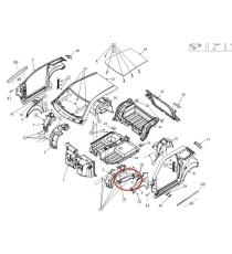 FLANGIA PARAFANGO ANTERIORE SINISTRA LIGIER JS50 PHASE 2E 3 (JS56 JS58) / JS50 SPORT