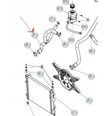 TUBO REFRIGERANTE LIGIER XTOO S, R, RS, IXO, JS50, JS50 L, OPTIMAX, DUÉ, MICROCAR MGO3/4 (MOTORE DCI)