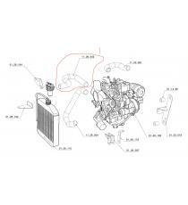 Tubo del radiatore superiore Chatenet 26, 32, 33, Sporteevo (motore Yanmar)