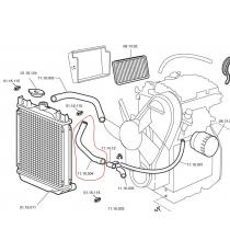 Chatenet Media, Barooder, speedino tubo radiatore inferiore (motore Lombardini)