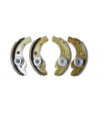 Jeu de 4 machoires de frein aixam microcar / ligier / jdm / chatenet diametre ( tambour 160mm )